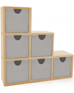 """Kaisercraft Beyond The Page MDF Bookend Drawers-9.5""""X9.5""""X2.75"""""""