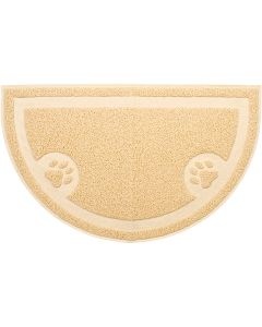 "Nandog Pet Gear Nandog Cat Litter Mat Half Moon Shape 24""X14""-Tan"