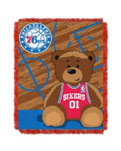The Northwest Company 76ers  Baby 36x46 Triple Woven Jacquard Throw - Half Court Series