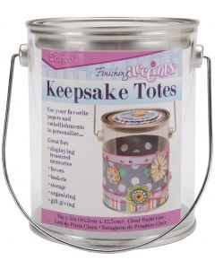 """Darice Keepsake Totes Clear Paint Can-4""""X5"""""""