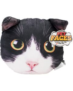 Jakks NEW! Pet Face Pillows-Tuxedo
