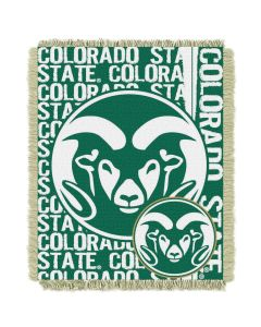 The Northwest Company Colorado State College 48x60 Triple Woven Jacquard Throw - Double Play Series