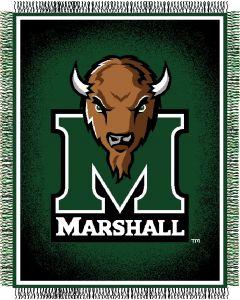 "The Northwest Company Marshall U ""Focus"" 48""x60"" Triple Woven Jacquard Throw (College) - Marshall U ""Focus"" 48""x60"" Triple Woven Jacquard Throw (College)"