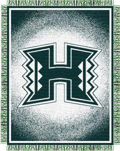 "The Northwest Company Hawaii ""Focus"" 48""x60"" Triple Woven Jacquard Throw (College) - Hawaii ""Focus"" 48""x60"" Triple Woven Jacquard Throw (College)"