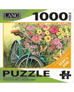 """LANG NEW! Jigsaw Puzzle 1000 Pieces 29""""X20""""-Bicycle Bouquet"""