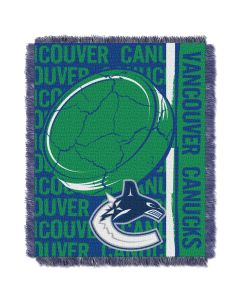 The Northwest Company Canucks  48x60 Triple Woven Jacquard Throw - Double Play Series