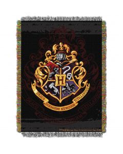 The Northwest Company Harry Potter Hogwarts Dcor Entertainment 48x60 Metallic Tapestry Throw