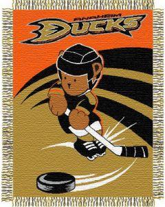 "The Northwest Company Ducks 044 baby 36""x 46"" Triple Woven Jacquard Throw (NHL) - Ducks 044 baby 36""x 46"" Triple Woven Jacquard Throw (NHL)"