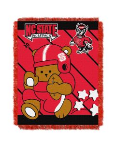 The Northwest Company N.C. State  College Baby 36x46 Triple Woven Jacquard Throw - Fullback Series