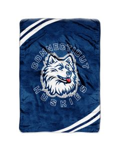 "The Northwest Company UCONN ""Force"" 60""80"" Raschel Throw (College) - UCONN ""Force"" 60""80"" Raschel Throw (College)"