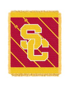 The Northwest Company USC  College Baby 36x46 Triple Woven Jacquard Throw - Fullback Series