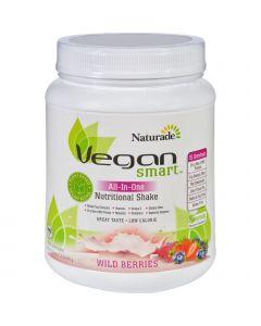 Naturade Nutritional Shake - Vegan Smart - All-In-One - Wild Berries - 22.8 oz