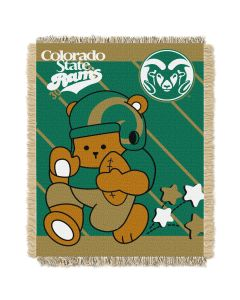 The Northwest Company Colorado State  College Baby 36x46 Triple Woven Jacquard Throw - Fullback Series
