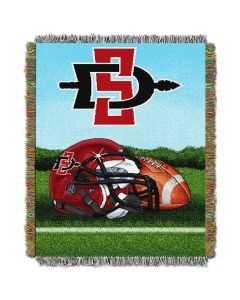 "The Northwest Company San Diego State College ""Home Field Advantage"" 48x60 Tapestry Throw"