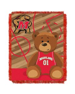 The Northwest Company Maryland  College Baby 36x46 Triple Woven Jacquard Throw - Fullback Series