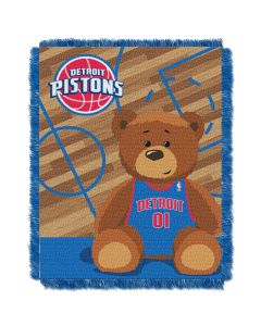 The Northwest Company Pistons  Baby 36x46 Triple Woven Jacquard Throw - Half Court Series