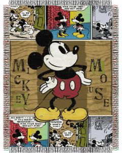 """The Northwest Company Mickey Mouse Comic 48""""x60"""" Tapestry Throw"""