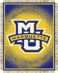 "The Northwest Company Marquette ""Focus"" 48""x60"" Triple Woven Jacquard Throw (College) - Marquette ""Focus"" 48""x60"" Triple Woven Jacquard Throw (College)"