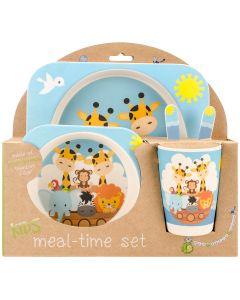 Mon Petit Chou Bamboo Fiber Kids Plate Set-Noah's Ark