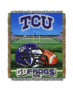"""The Northwest Company TCU College """"Home Field Advantage"""" 48x60 Tapestry Throw"""