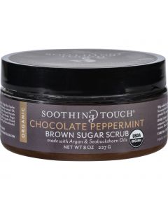 Soothing Touch Scrub - Organic - Sugar - Chocolate Peppermint Brown Sugar - 8 oz