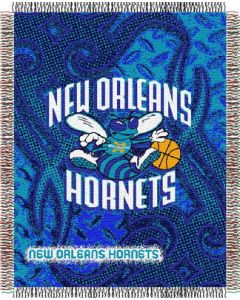 "The Northwest Company Hornets 48""x60"" Triple Woven Jacquard Throw (NBA) - Hornets 48""x60"" Triple Woven Jacquard Throw (NBA)"
