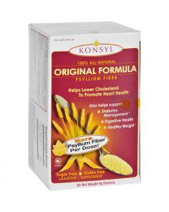 Konsyl Pharmaceuticals Psyllium Fiber - Orange Flavor - Packets - 30 Count