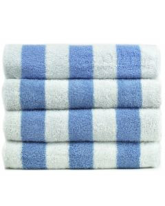 Bare Cotton Luxury Hotel & Spa Towel 100% Genuine Turkish Cotton Pool Beach Towels - Light Blue - Cabana  - Set of 2
