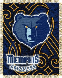 """The Northwest Company Grizzles 48""""x60"""" Triple Woven Jacquard Throw (NBA) - Grizzles 48""""x60"""" Triple Woven Jacquard Throw (NBA)"""