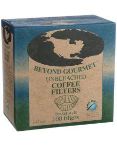 Beyond Gourmet Coffee Filters - Basket - Unbleached - 100 Count (Pack of 3) - Beyond Gourmet Coffee Filters - Basket - Unbleached - 100 Count (Pack of 3)