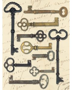 K&Company Life's Journey Metal Art-Keys