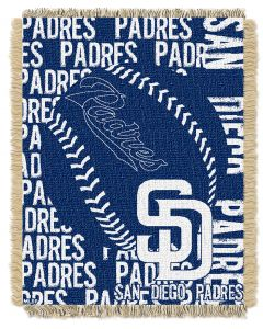 The Northwest Company Padres  48x60 Triple Woven Jacquard Throw - Double Play Series