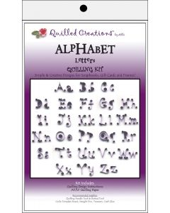 Quilled Creations Quilling Kit-Alphabet Letters