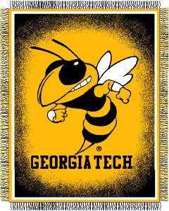 "The Northwest Company Georgia Tech ""Focus"" 48""x60"" Triple Woven Jacquard Throw (College) - Georgia Tech ""Focus"" 48""x60"" Triple Woven Jacquard Throw (College)"