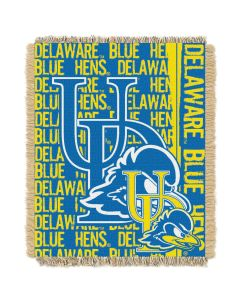The Northwest Company Delaware College 48x60 Triple Woven Jacquard Throw - Double Play Series