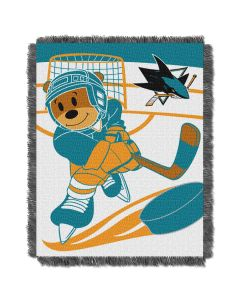 The Northwest Company Sharks  Baby 36x46 Triple Woven Jacquard Throw - Score Series