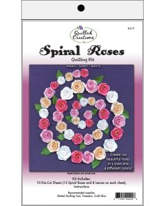 Quilled Creations Quilling Kit-Spiral Roses - White, Ivory & Pink