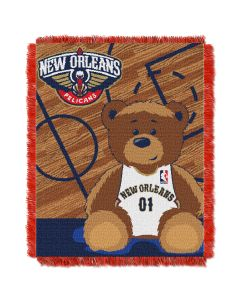 The Northwest Company Pelicans  Baby 36x46 Triple Woven Jacquard Throw - Half Court Series