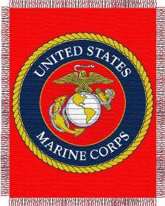 The Northwest Company US Marines Military 48x60 Triple Woven Jacquard Throw