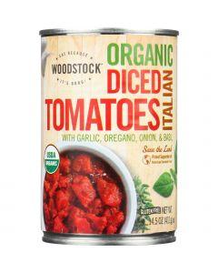 Woodstock Tomatoes - Organic - Diced - Italian Herbs - 14.5 oz - case of 12