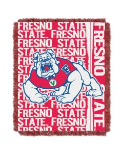 The Northwest Company Fresno College 48x60 Triple Woven Jacquard Throw - Double Play Series