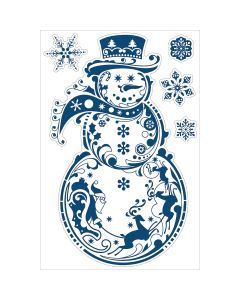 "Inkadinkado Wall Decal Large 24""X36""-Snowman"