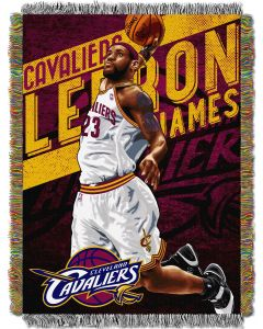 "The Northwest Company Lebron James - Heat  ""Players"" 48x60 Tapestry Throw"