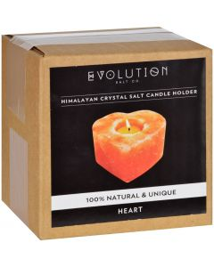 Evolution Salt Tealight Candle Holder - Heart - 1 Count