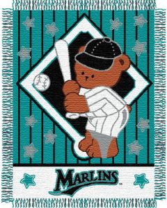 """The Northwest Company Marlins baby 36""""x 46"""" Triple Woven Jacquard Throw (MLB) - Marlins baby 36""""x 46"""" Triple Woven Jacquard Throw (MLB)"""