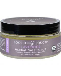 Soothing Touch Scrub - Organic - Salt - Herbal - Lavender - 10 oz