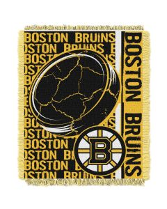 The Northwest Company Bruins  48x60 Triple Woven Jacquard Throw - Double Play Series