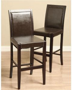 Warehouse of Tiffany Lita Leather Bar Chairs (Set of 2)