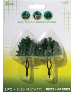 """Darice Diorama Trees 2/Pkg-3.125"""""""