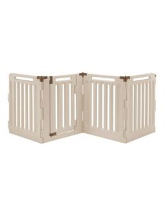 "Richell Convertible Indoor/Outdoor Pet Playpen 4 Panel Tan / Mocha 33.1"" x 33.1"" x 36"""